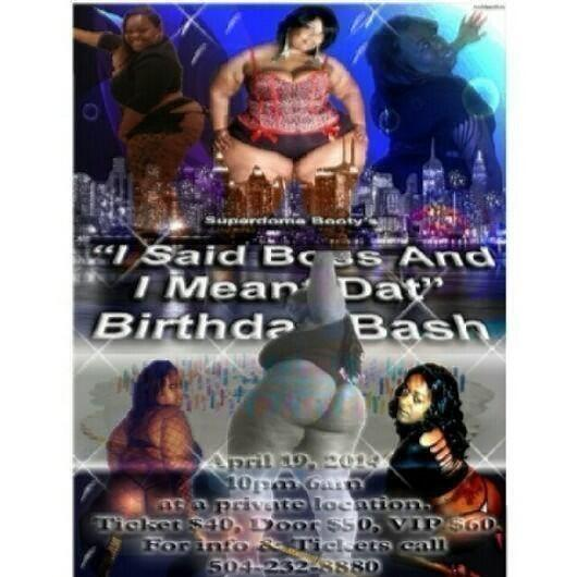 Team Super Thick (@TeamSuperThick): @SuperdomeBootyI SAID BOSS & I MEANT THAT BDAY NYC APRIL 19 GET YOUR TICKETS TODAY CALL 504-232-8880