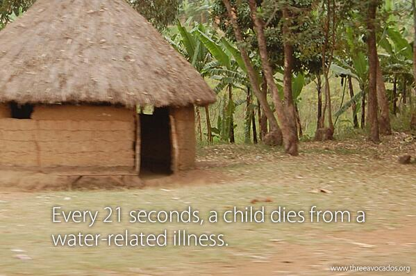 Every 21 seconds, a child dies from a water-related illness #TenDaysOfWater #WorldWaterDay http://t.co/B5ccvR8ZLi