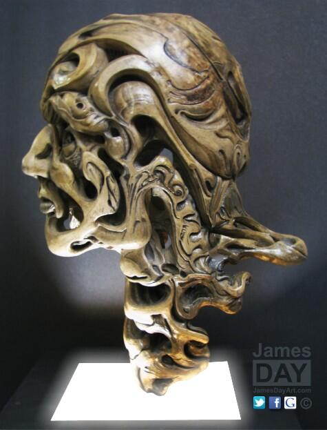 Eternal thoughts of a mortal mind ~ 1996-7 life-size clay #ceramic #art ~ #surreal #sculpture #ceramics http://t.co/IWDTEo0hJH