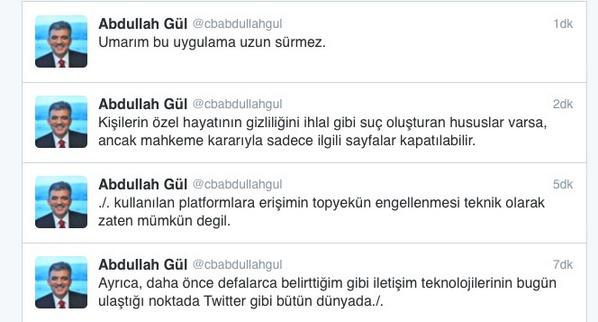 """T.C Ebru Destan İnan (@ebrudestaninan): """"Erişimin kısıtlanmasının mümkün olmadığını bizzat Cumhurbaşkanı kanıtladı.. http://t.co/d13SqFJLfM"""""""