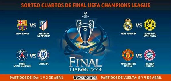 Sorteo Cuartos de final. ..... http://t.co/dEfF7HWujR