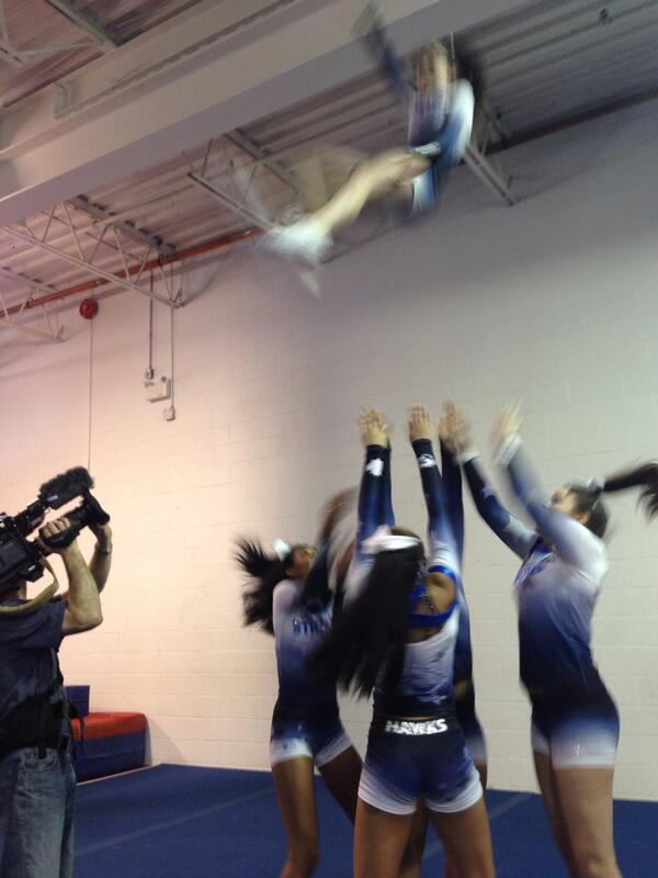 Charlsie Agro (@CBCharlsie): 14 year old fearless @CheerStrongInc flyer Helen. Catch her at 6 #sl http://t.co/LMgFywUM9k