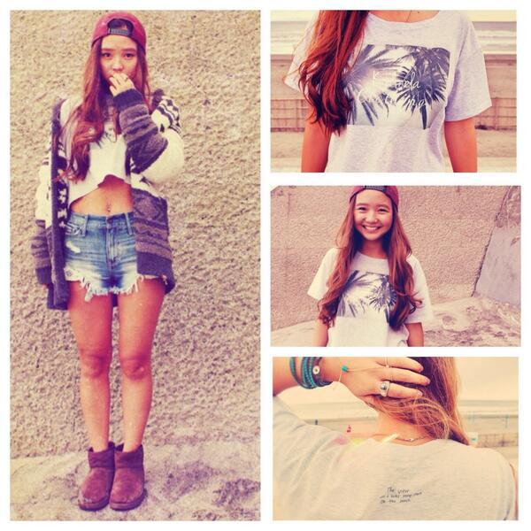 かわいい妹 @daisygirl_xx がTシャツ作っちゃったよ!デニムに合わせてもかわいいし、マキシワンピに重ねたりしてもこわいいね❤︎詳細はKiyのBlogをチェチェチェチェック!☞ http://t.co/N084n5EwsN http://t.co/0KG2Y6ITOh
