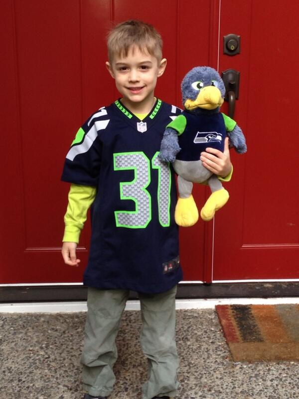 @Kam_Chancellor This little guy is named Cam and is a big Kam fan! Go Hawks!! #BlueFriday