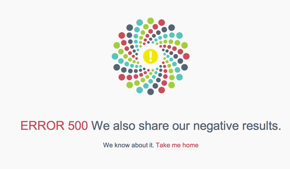 Ok @figshare, if I didn't <3 you already, I'd start now. Best error page evar. #negativeResults #positivelyDelightful http://t.co/354UbQwQn2