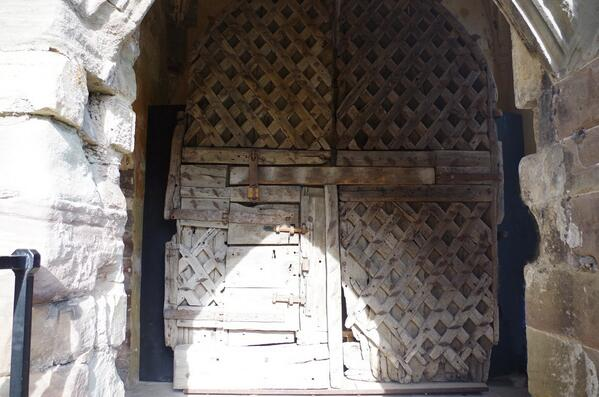 #ChepstowCastle  William Marshal's castle doors.I got a huge emotional charge when first saw them. #TheGreatestKnight http://t.co/P22zmZAOOG