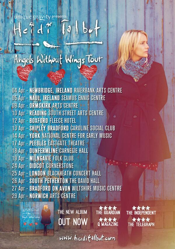April UK tour with Heidi Talbot @heiditalbot & Ian Carr. Tour dates & news here - http://t.co/38VoEBJcBQ Please RT http://t.co/JA0glLY33d