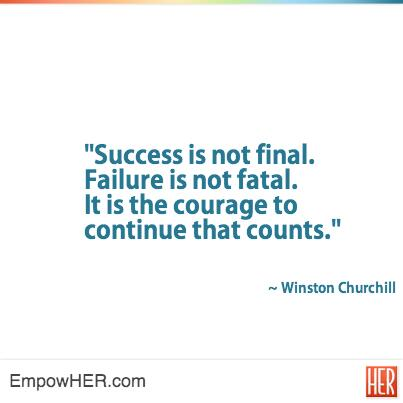 Today's #morningcup of #inspiration: Failure is not fatal. It is the courage to continue that counts http://t.co/UiV2KV3AFE