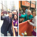 Selfies with @CarsonDaly & @DylanDreyerNBC on the #TODAYPlaza Say Cheese! http://t.co/0hoLKhD3Te