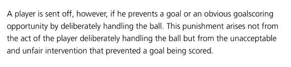 This this is the Fifa law proving the red card was wrong on two counts. Ball was clearly going wide. #afc #cfc http://t.co/DARG5TiATz