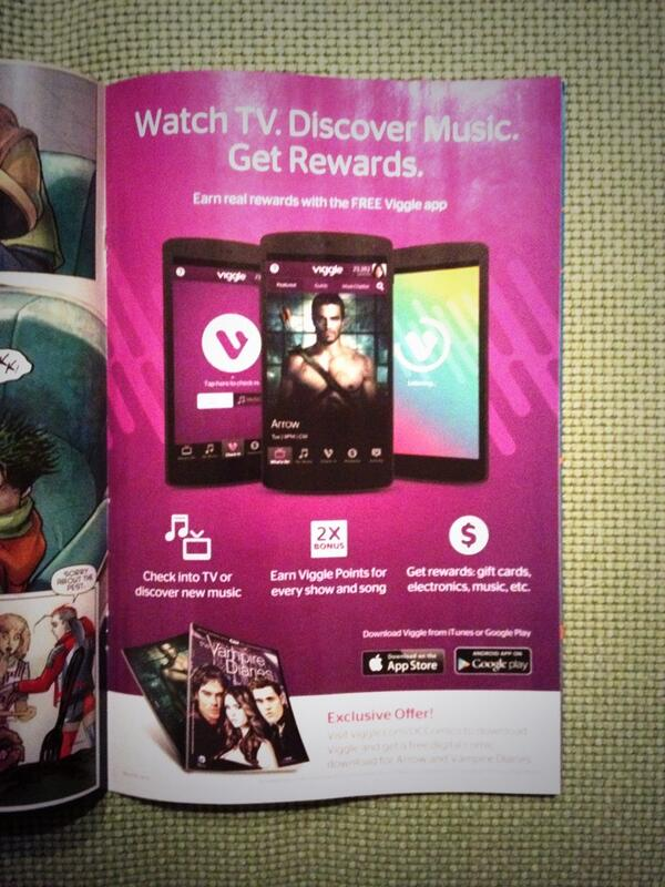 Nicely done @Viggle. Full page ad in @DCComics this month. #SocialTV #SecondScreen http://t.co/Q0U0EH362b