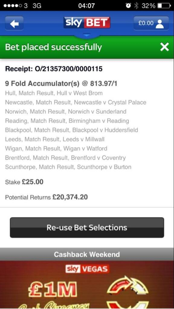 We told you we've been #SkyBettered today, one customer scooped 20k! #Ouch #WellPlayed http://t.co/hr2tTTtl78