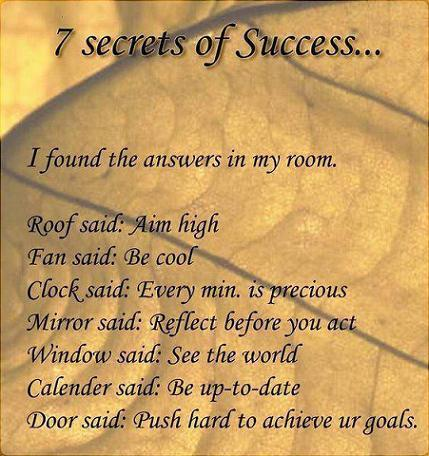 Best #secretsofsuccess we've seen in a looooong time. So achievable. Source: http://t.co/wavT8wCfxd http://t.co/3aH1J4D2c0