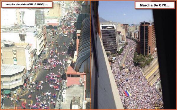 Aqui esta la prueba:Maduro perdio la calle;la calle es del pueblo que clama por democracia y libertad http://t.co/R17goB0JFc