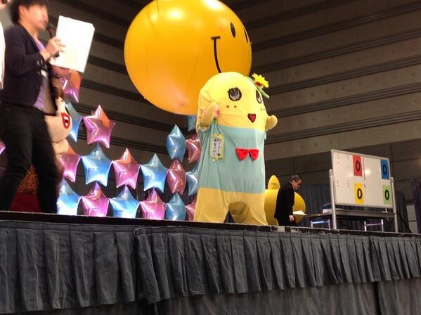 わわわわわわっ!! ふなっしーが再興祭りにやってきました!  #ふくしま再興祭り http://t.co/rLIKISkgIr