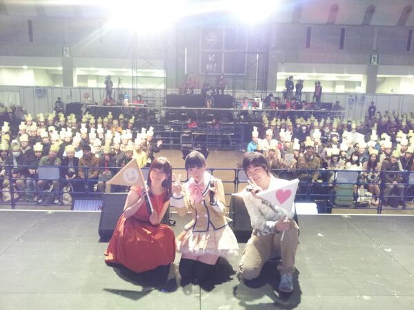 「彼女がフラグをおられたら」ステージイベントにて☆~友情フラグ大量発生記念写真~ #がをられ #animejapan