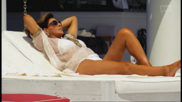 While bitches be hating on @Gina_Liano, she is just laying back loving life. #RHOMelbourne http://t.co/xknBwX8zqx