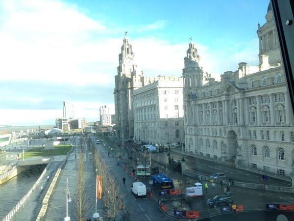 Good luck to 8,500 runners taking part into today's Liverpool Half Marathon. Start & finish here. #liverpoolhalf http://t.co/O4gWgMH6KX