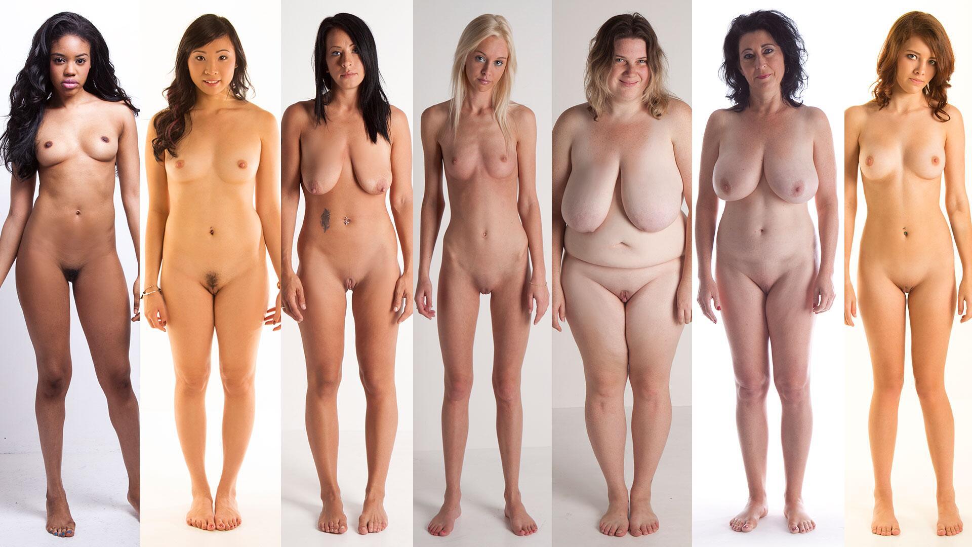 Несколько Видов Обнаженных Женщин Красивых