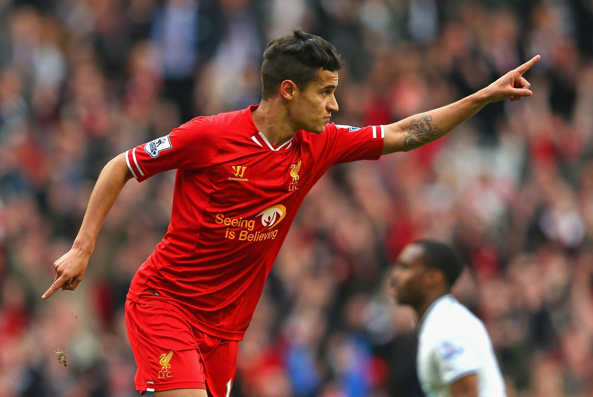 PHOTO: A well-earned celebration for @Phil_Coutinho http://t.co/mxeawGBj6f