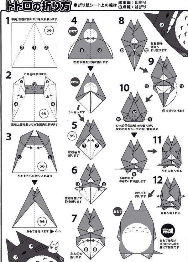 【となりのトトロ】折り紙でトトロを作ろう♡