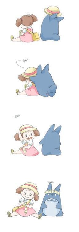 仲良しな中トトロとメイちゃん♡