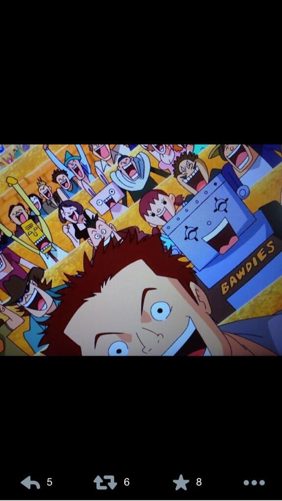 おいおい…マジか⁉︎ONE PIECEのアニメでBAWDIESって書いてある‼︎  スゲー嬉しいんですが! http://t.co/FU2Jv0uM5E