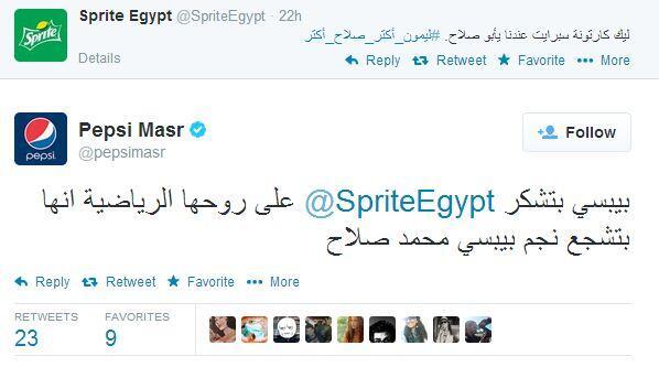 .@pepsimasr just OWNED @SpriteEgypt! #SocialMedia http://t.co/J0WUKcHWdO