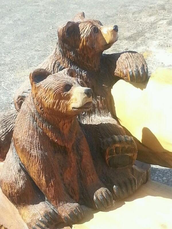 Just some of the amazing chainsaw carvings at gravenhurst