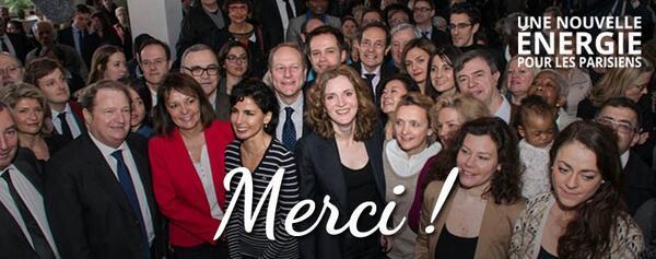 Merci aux Parisiens de nous avoir placés en tête au 1er tour. Tout commence, 7 jours pour le progrès à Paris ! http://t.co/EVNzEyEiAr