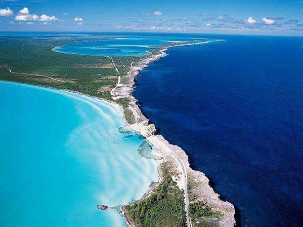 Where the Caribbean meets the Atlantic in Eleuthera, Bahamas: http://t.co/g529V9ygiK