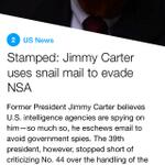 Stamped: Jimmy Carter uses snail mail to evade NSA. via @YahooNewsDigest. http://t.co/uFWE1FL0Ys