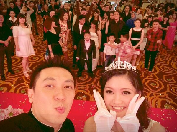#selfie at the wedding