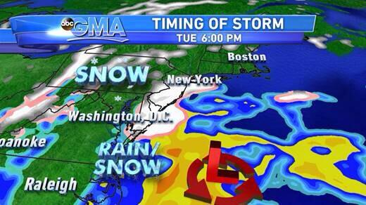 RT @Ginger_Zee: Talking nor'easter coming up on @GMA ! Here's the start tomorrow evening... http://t.co/IlmcUBf7qB