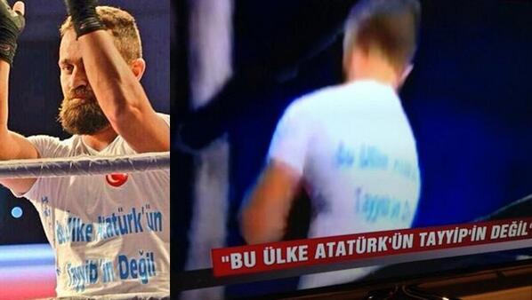 """Bravo! #Almanya'da boks yaşamını sürdüren boksör #ÜnsalArık ringe bu tişörtle çıktı http://t.co/JVPMtN9ee6 http://t.co/iLbUZpuMFf"""""""