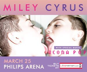 SURPRISE! @MileyCyrus is @PhilipsArena TOMORROW & we want YOU to be here! RT if you want 2 tix! Winner drawn at 5pm. http://t.co/tz03quDq2I