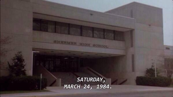 It was 30 years ago, The Breakfast Club met for detention. http://t.co/XBoXhdz24v