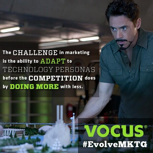 The challenge in mktg is ability 2 adapt 2 technology personas b4 competition does by doing more w/ less. #EvolveMKTG http://t.co/QNwl0MjrfX