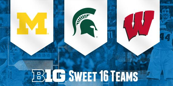 3 #B1GMBBall teams march into the #Sweet16 this wk with a combined 34 official appearances in the round of 16. http://t.co/hnvnSgsZVQ