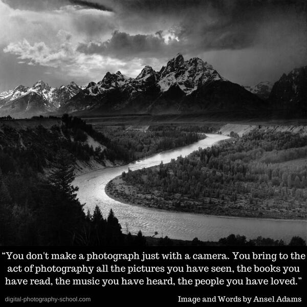 Words of wisdom from Ansel Adams http://t.co/vqojPEWahB