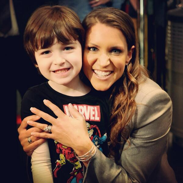 Marc gets to meet @StephMcMahon of @wwe fame at the #wwelive event. #WWEDads #WWEMoms #WWEBrooklyn http://t.co/cJD7MeYVUL
