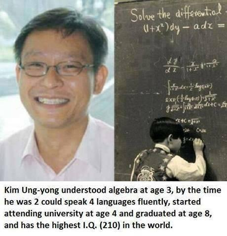 Highest IQ in the world. http://t.co/bnvPX1s7mz