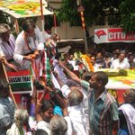 Huge crowds of supporters as we pass through Rajaji Nagar in Thiruvananthapuram during today's pariyadanam!