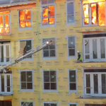 Watch the incredible rescue of a man from blazing building seconds before roof collapses http://t.co/q4uGRUWakE http://t.co/906tTHoM0Y
