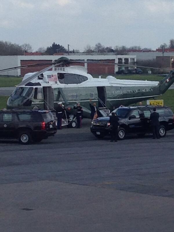 Welcome Mr. President at Kortrijk-Wevelgem Airport. #obama http://t.co/jg2sGOhTI5