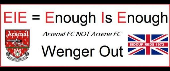BjpV9PfIcAArR0E An Arsenal fan has made a 24 foot by 8 banner calling for Wenger Out for the FA Cup semifinal at Wembley [Picture]