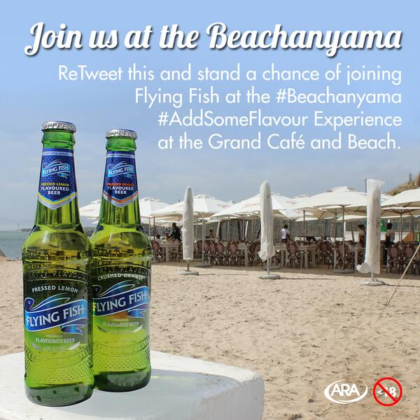 1 more set of tickets to giveaway to #beachanyama w/ @FlyingFishSA so get retweeting http://t.co/Mp2fwIqMEj