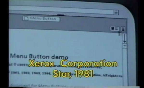 Where did the hamburger menu icon originate? Xerox, circa 1981.  Nice find @geoffa http://t.co/hudP0lBAhz