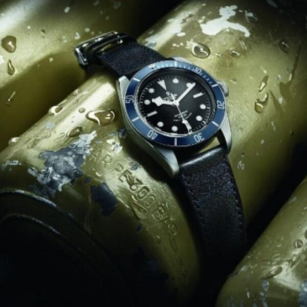 #Baselworld2014: We're on the fly! #TudorWatch unveils new edition of Heritage Black Bay. It comes on a dark blu... http://t.co/c0h6P2XNql