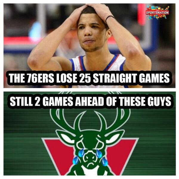 The Milwaukee Bucks are the definition of #TheStruggle http://t.co/Hu9UbkIk4u